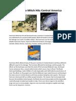 Dillon Geography Hurricane Mitch