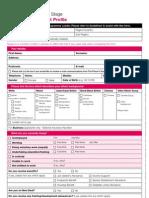 Participant Profile Form