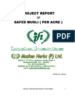 Safed Musli - Project Report Per Acre