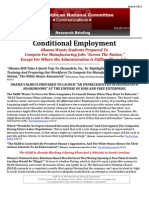Conditional Employment