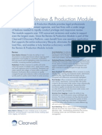 Clearwell Review and Production Module