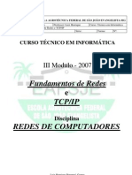 Fundamentos de Redes E TCP IP