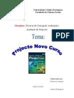 Relatório do Projecto Novo Curso