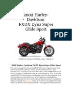 2002 FXDX Super Glide Sport