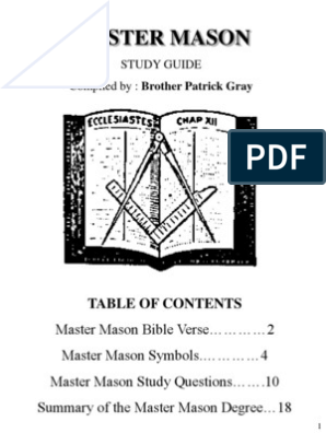 Complete Master Mason Study Guide | Freemasonry | Masonic Lodge