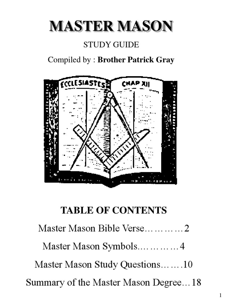 Masonic Education Course | Q&A 1ST DEGREE