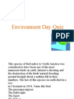 Env Day Quiz