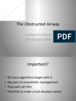 The Obstructed Airway