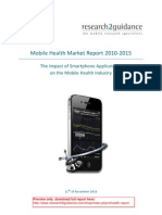 Mobile Health Market Report 2010-2015