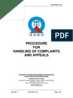 Procedure on Handling of Complaints Appeals