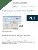 15 Dicas Para o Excel 2007