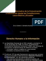 Estado de la Normativa de la Comunicación e Información desde las Constituciones casos Bolivia y Ecuador
