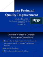 PQCNC SIVB LS2 Novant Perinatal Quality Improvement