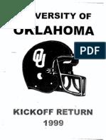 Kickoff Return 1999 Oklahoma