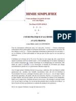 Alchimie simplifie - Schwaeble