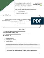 Acta de Sesión PART. 22 DE FEB.