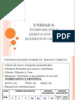 UNIDAD 3 COMPOSICIÓN Y DERIVACIÓN CON ELEMENTOS GRIEGOS