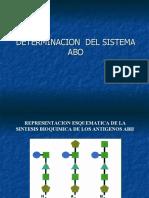 Determinación del Sistema Abo y Rh