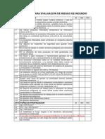 Check List Verificacion Del Riesgo de Incendio