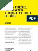 RESUMEN Nigeria - Petroleo Contaminacion y Pobreza en El Delta Del Niger