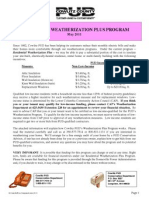 Customer Weatherization Plus Program
