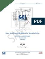 Riser Recoil Analysis Report for Acme Drillship