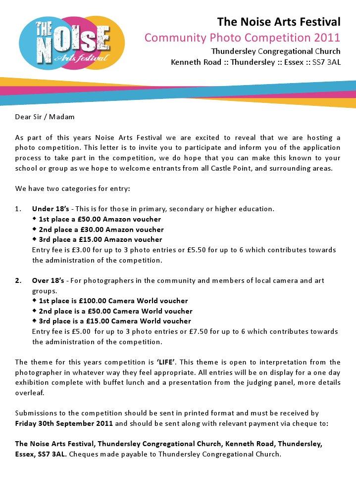 Photo competition letter photograph voucher spiritdancerdesigns Choice Image