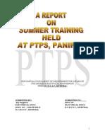 Trining Report PTPS,Panipat ( Pardeep Malik)