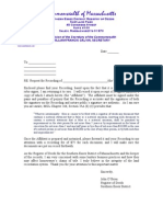 John O'Brien Robo-Signer Rejection Letter and Affidavit in Support of Filing