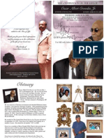 Funeral Program Design for Oscar Crowder
