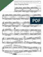 Etude Basic Fingering for Piano