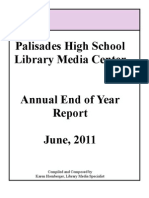 Palisades High School Library Annual Report 2010 2011