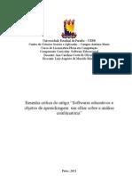 Resenha Softwares Educacionais e Objetos de Aprendizagem
