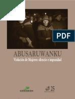 Abusaruwanku Violación de mujeres silencio e impunidad