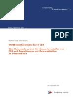 Loew Clausen 2010 Wettbewerbsvorteile Durch CSR Gutachten FuerBMAS