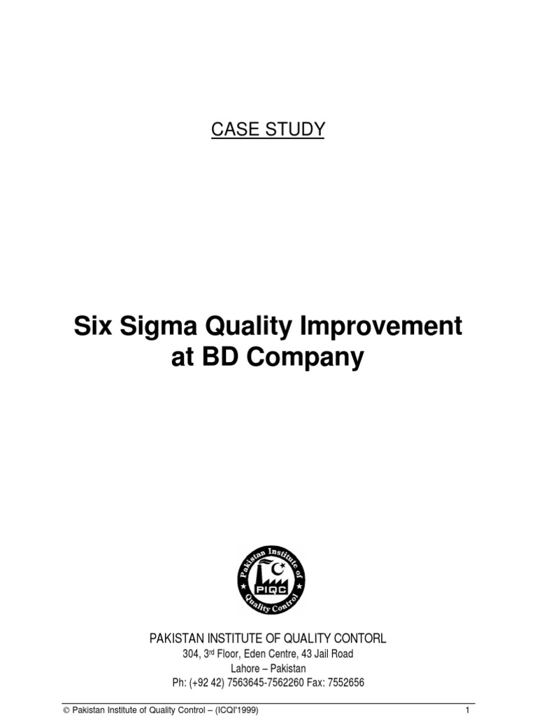 Six sigma quality improvement at bd company six sigma standard six sigma quality improvement at bd company six sigma standard deviation xflitez Choice Image
