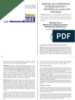 Manual de La Mision de Evangelizacion y Defensa de Nuestra Fe Catolica