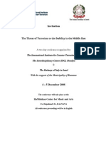 Threat of Terrorism to the Stability of the Middle East