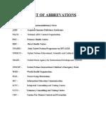List of Abbrevations