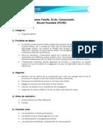 Programme Famille, École, Communauté,  Réussir Ensemble (FECRE)