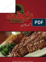 Jake's Restaurant Menu