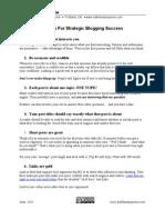 Eleven Tips for Strategic Blogging Success