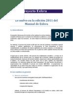 Lo Nuevo en La Edicion 2011 Del Manual de Esfera Revisada