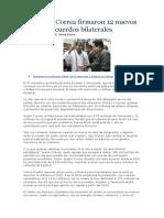 Chávez y Correa firmaron 12 nuevos acuerdos bilaterales
