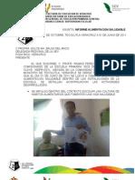 INFORME ALIMENTACION SALUDABLE. ESCUELA PRIMARIA DOS DE OCTUBRE