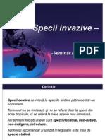 Specii Invazive Seminar