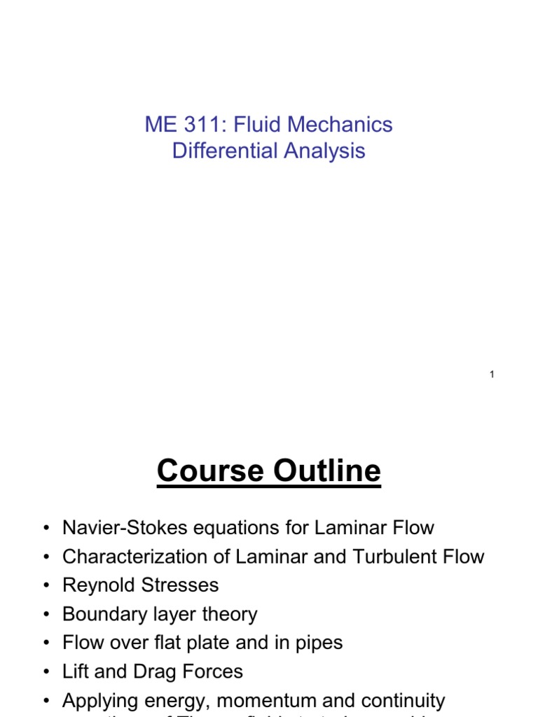 Ch-6 Differential Analysis of Fluid Flow | Navier–Stokes Equations | Fluid  Dynamics