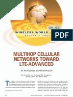 MULTIHOP CELLULAR NETWORKS TOWARD LTE-ADVANCED