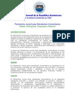 Brochure Parlamento Juvenil Para Estudiantes Universitarios