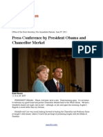 Press Conference by President Obama and Chancellor Merkel